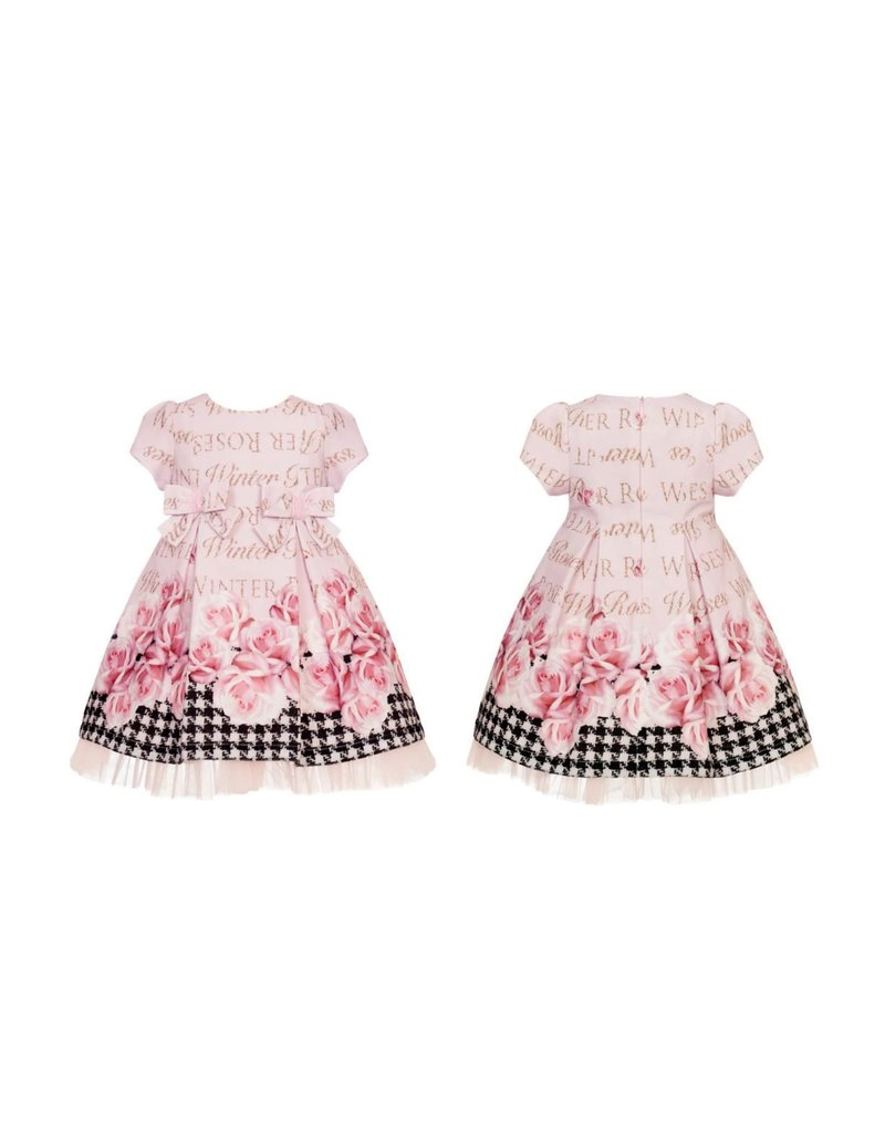 "Balloon Chic Jurk ""Roses"" roze tule"