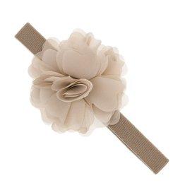 Siena Haarband grote bloem beige