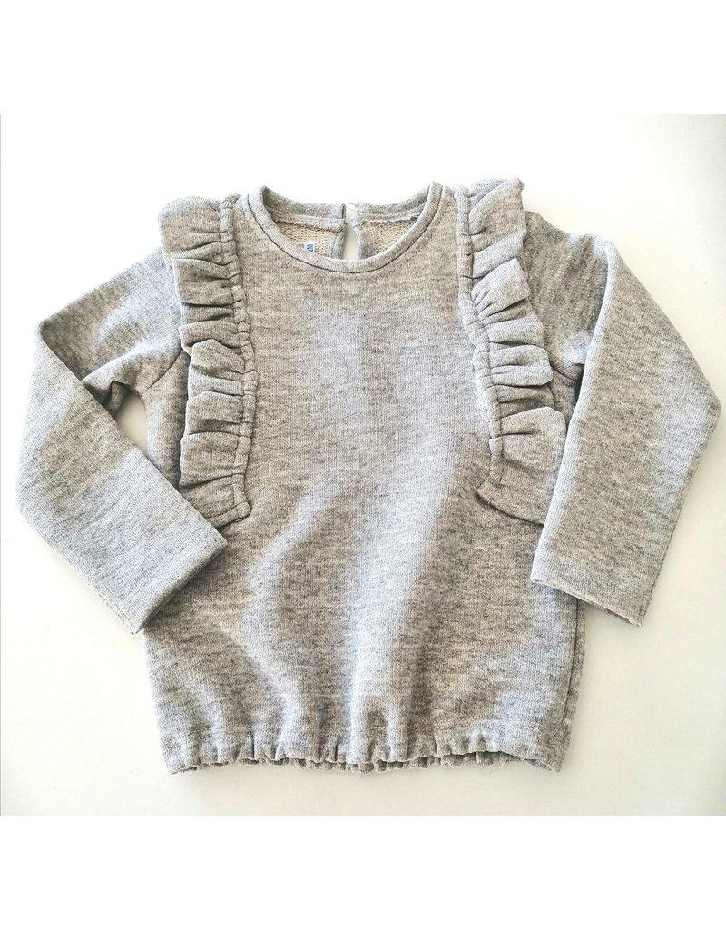 BE CHIC Sweater frulletjes zilver