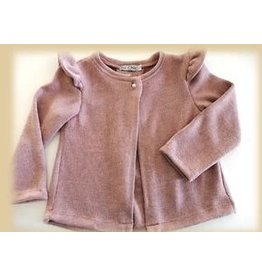 BE CHIC Cardigan open lurex oudroze