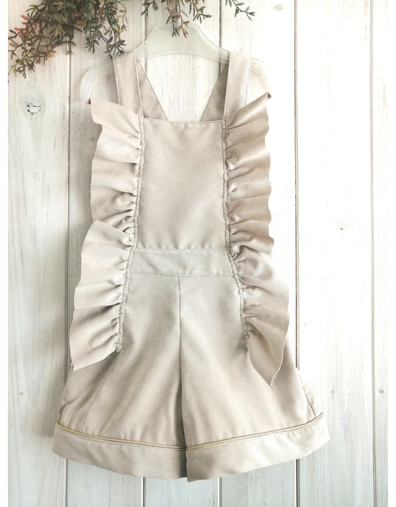 BE CHIC Salopetje ruches beige