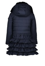 Le Chic Jas lang model ruffle blue navy