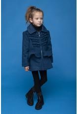Le Chic Mantel soft felt blue navy