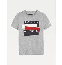 TOMMY HILFIGER Tshirt sticker mid grey