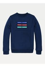 TOMMY HILFIGER Sweater multi badge velcro navy