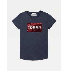 TOMMY HILFIGER Tshirt Flag Flip navy