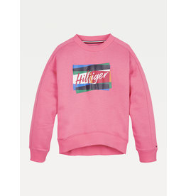 TOMMY HILFIGER Sweater Fun Flag glamour pink