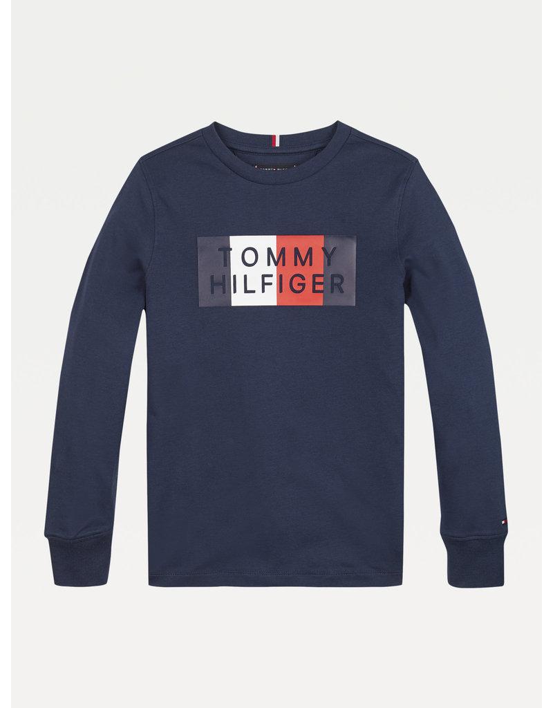 TOMMY HILFIGER Longsleeve global stripe navy