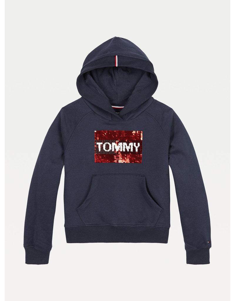 TOMMY HILFIGER Hoodie Flag Flip navy