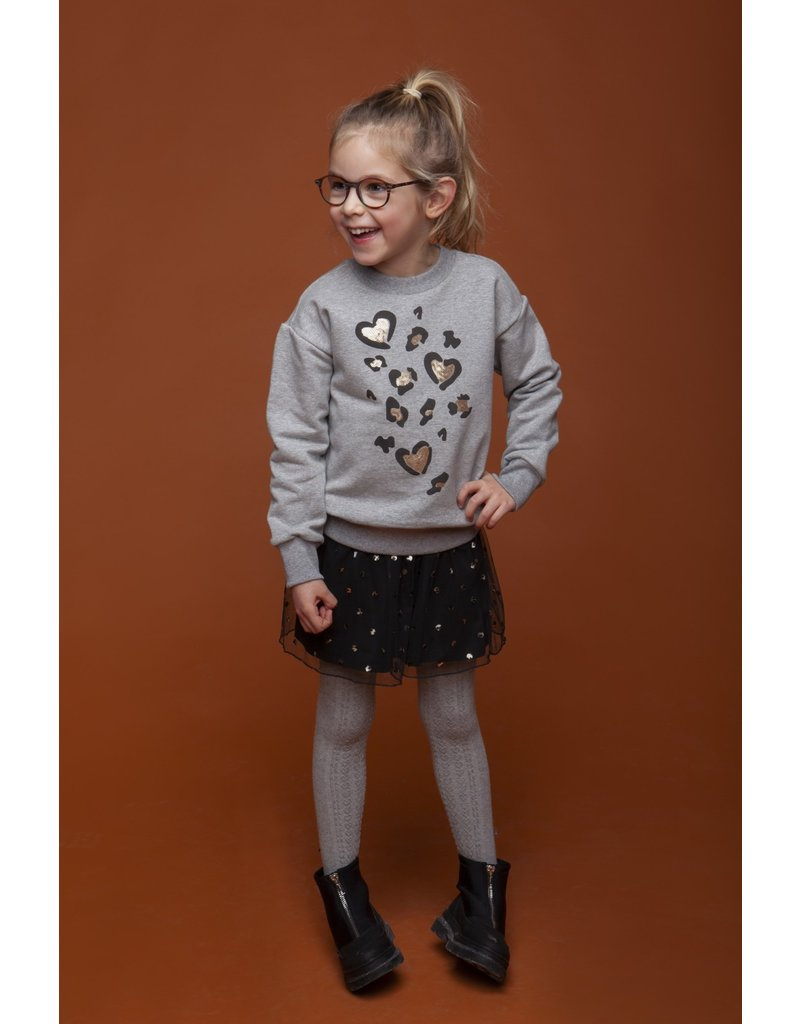 """Le Chic Sweater """"Leopard Love"""" seal melee"""