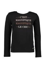 """Le Chic Longsleeve """"C'est Magnifique"""" black"""