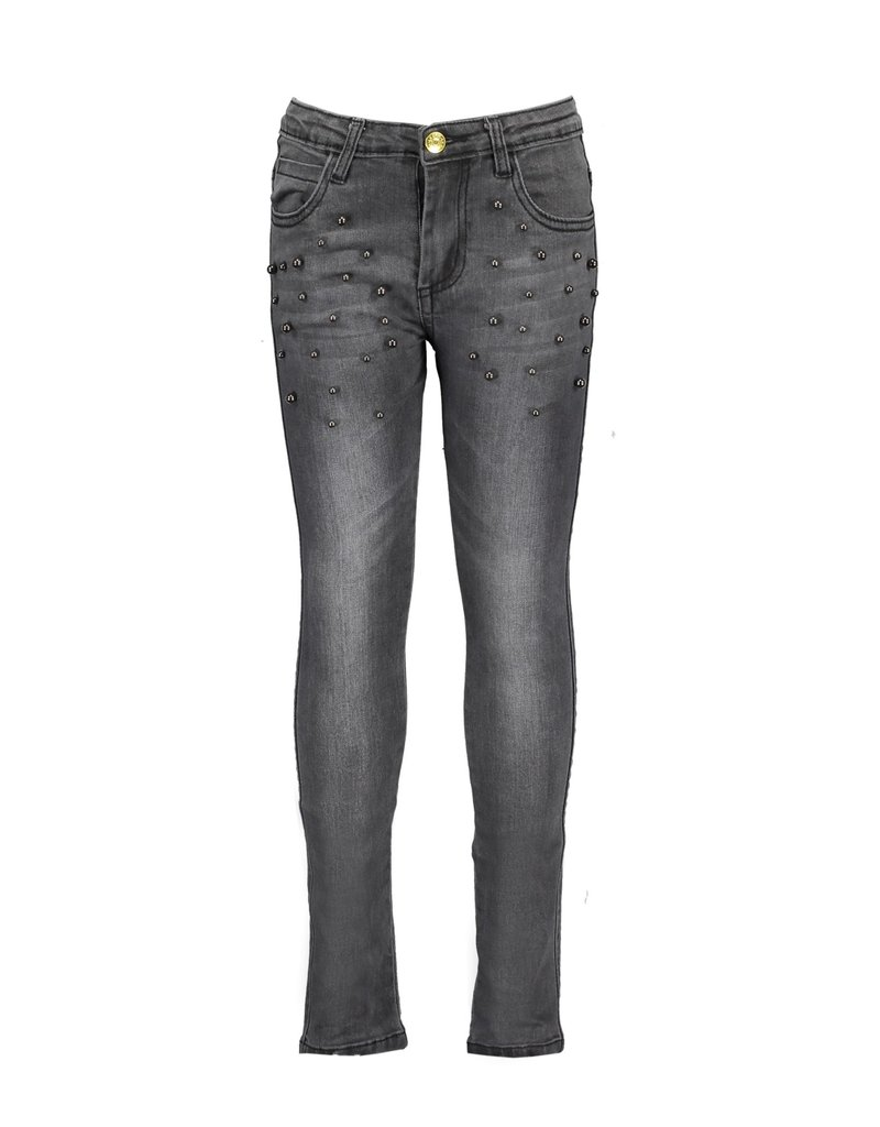 Le Chic Jeans pearls grey stretch denim