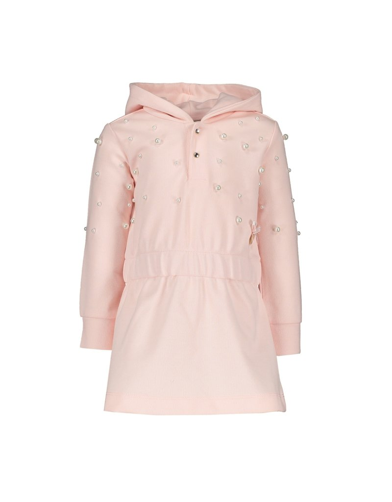 Le Chic Sweaterjurk pearls pink