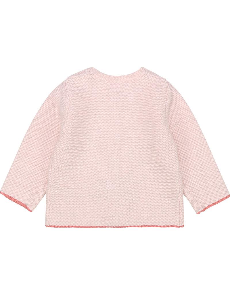 Carrément Beau Cardigan tricot boordje litchi