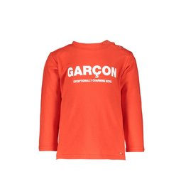 "Le Chic Garçon Tshirtje ""Garçon"" scarlet red"