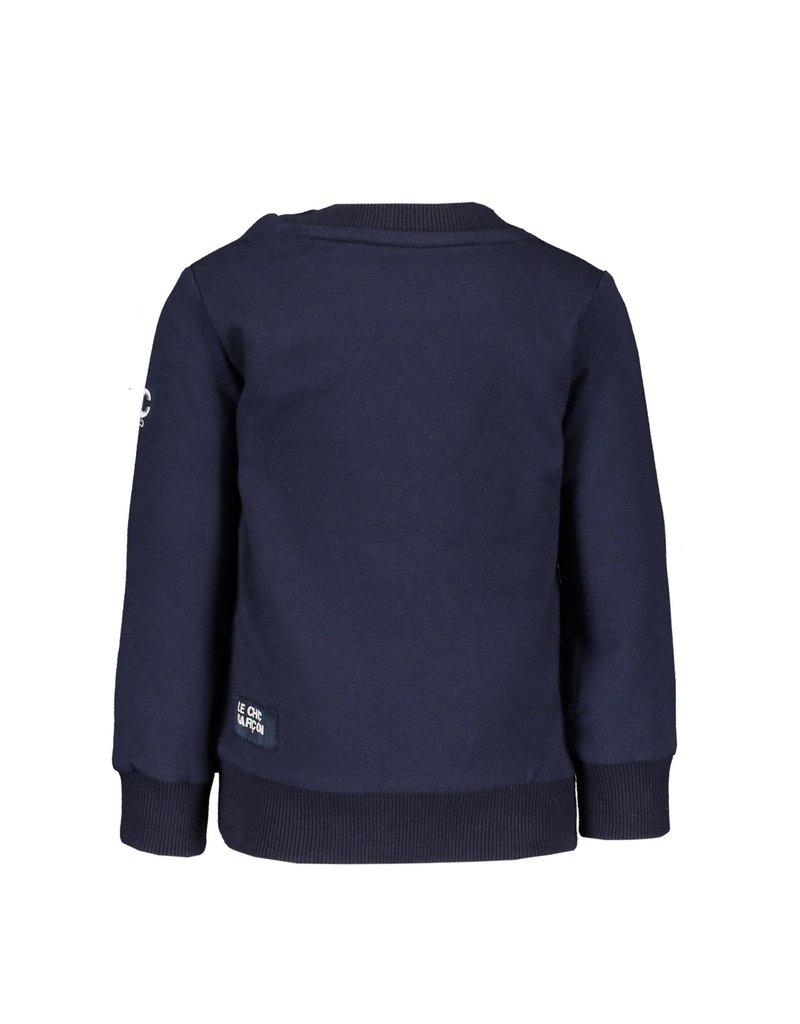 "Le Chic Garçon Sweatertje ""Garçon"" blue navy"