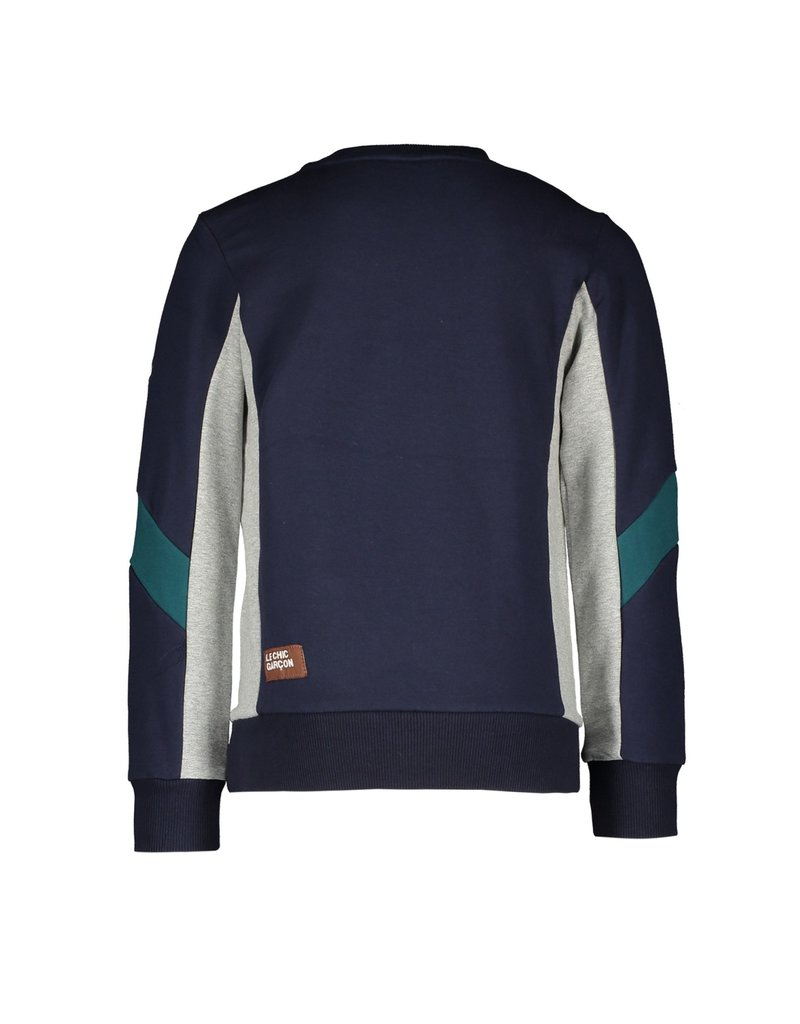 Le Chic Garçon Sweater cut&sewn parts blue navy