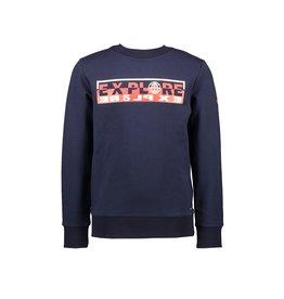 """Le Chic Garçon Sweater """"Explore"""" blue navy"""