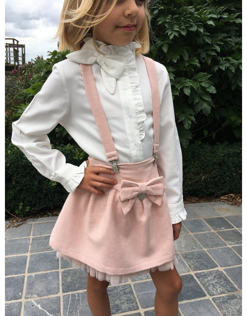 Lapin House Setje blouse+rokje bretellen roze