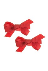 Siena Pack 2 clips ribbon rood