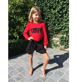"Special Day Sweater ""Cute"" rood"