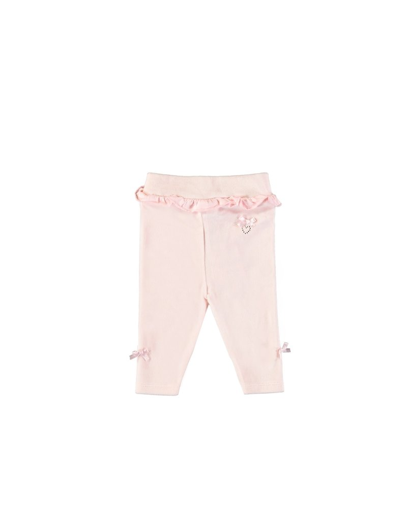 LE CHIC BEBE Broekje soft velours pink