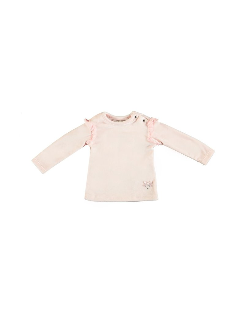 LE CHIC BEBE Sweater soft velours pink