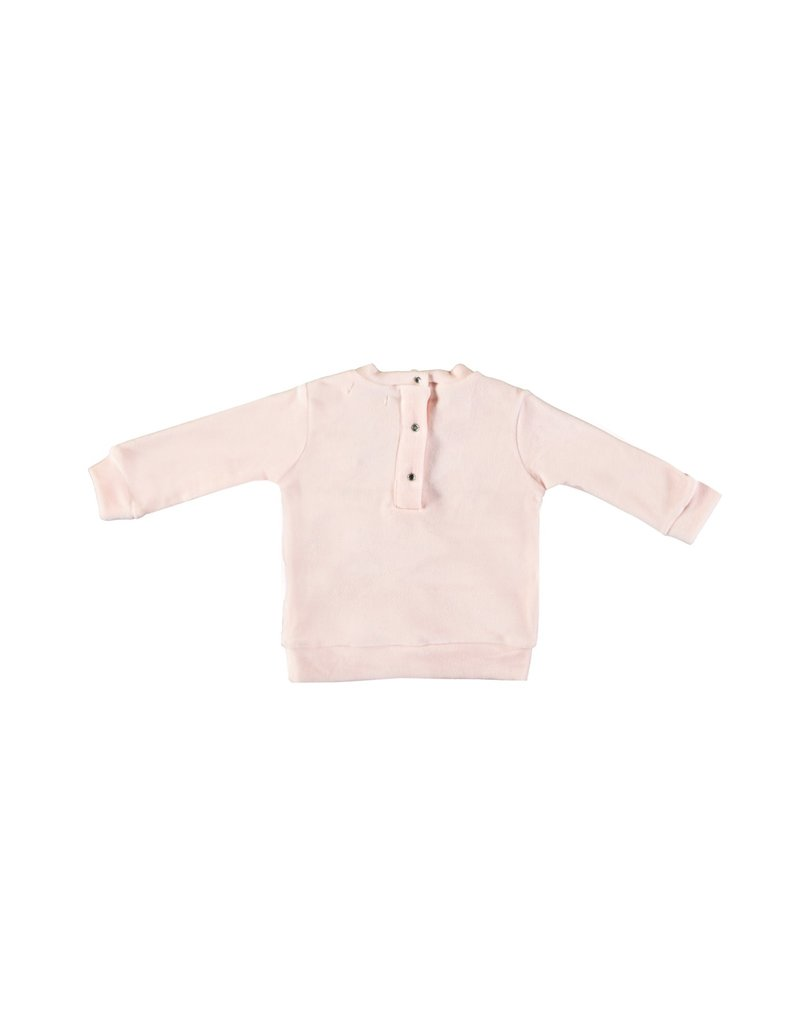 """LE CHIC BEBE Sweater """"Teddybears"""" soft velours pink"""
