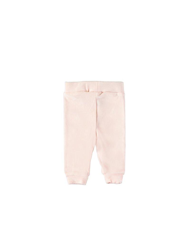 LE CHIC BEBE Broekje soft velours strass pink
