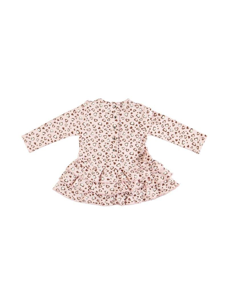 "LE CHIC BEBE Jurk ""Leopard hearts"" pink"