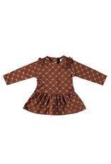 "LE CHIC BEBE Jurk all-over ""Chic"" cinnamon"