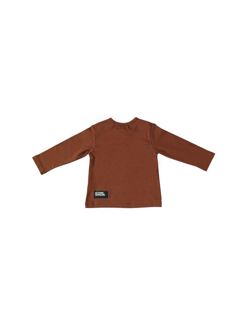 """LE CHIC BEBE Tshirt """"Un Nouveau Garçon"""" cinnamon"""