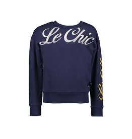 "Le Chic Sweater ""LE CHIC"" glitterprint"