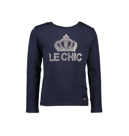 "Le Chic Longsleeve ""LE CHIC Crown"" blue navy"