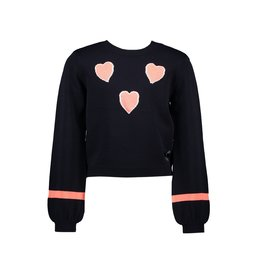 "Le Chic Pullover ""Hearts"" blue navy"