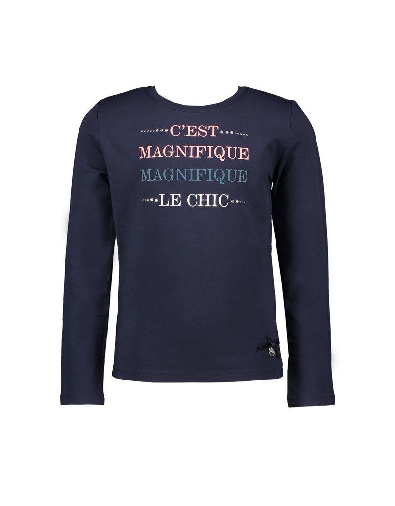 """Le Chic Longsleeve """"C'est Magnifique"""" blue navy"""