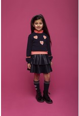 """Le Chic Pullover """"Hearts"""" blue navy"""
