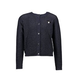 Le Chic Cardigan fine glam knit blue navy