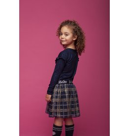 Le Chic Rok glitter check blue navy
