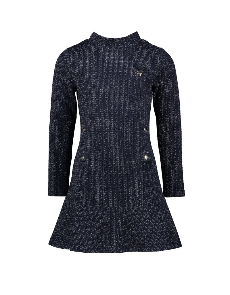 Le Chic Jurk cable knit look blue navy