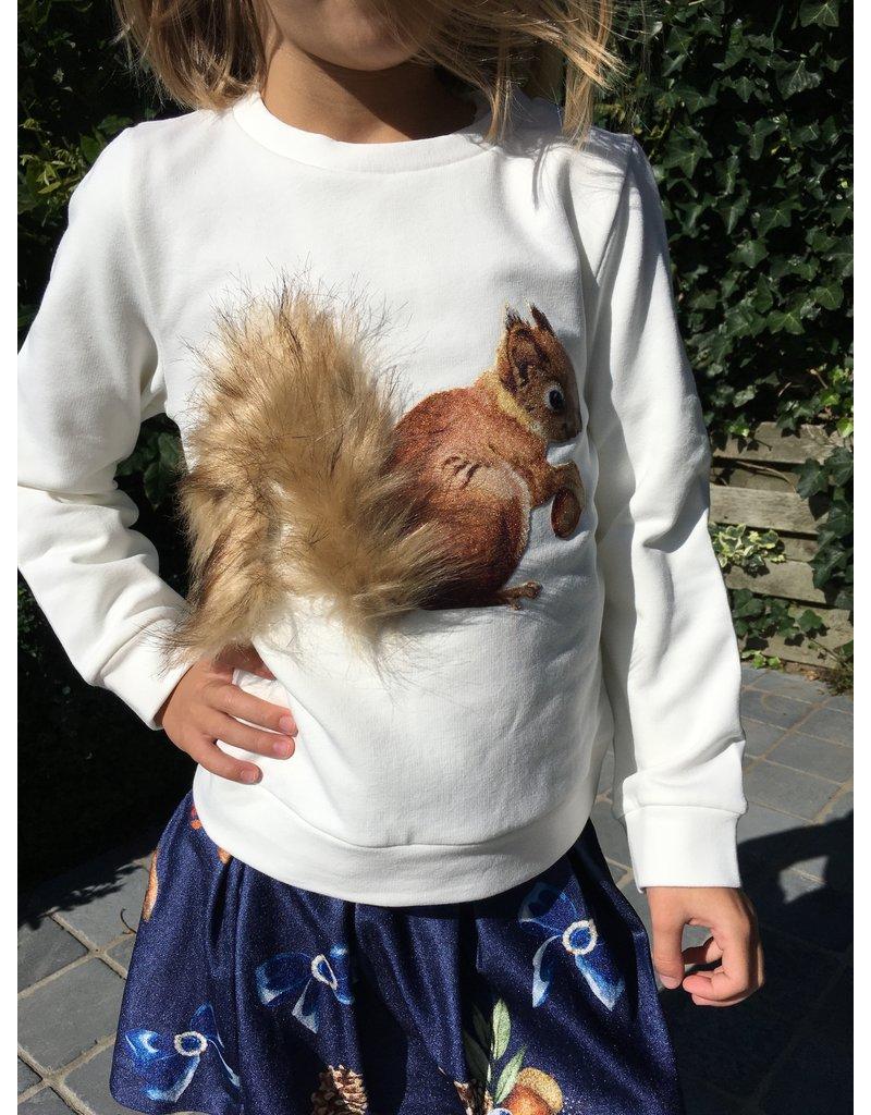 "Special Day Sweater ""Eekhoorn"" wit"