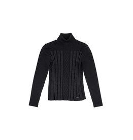 Fracomina Sweater coll zwart glitter