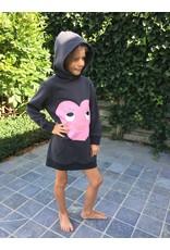 "Billieblush Sweaterjurk ""Heart"" dark grey"