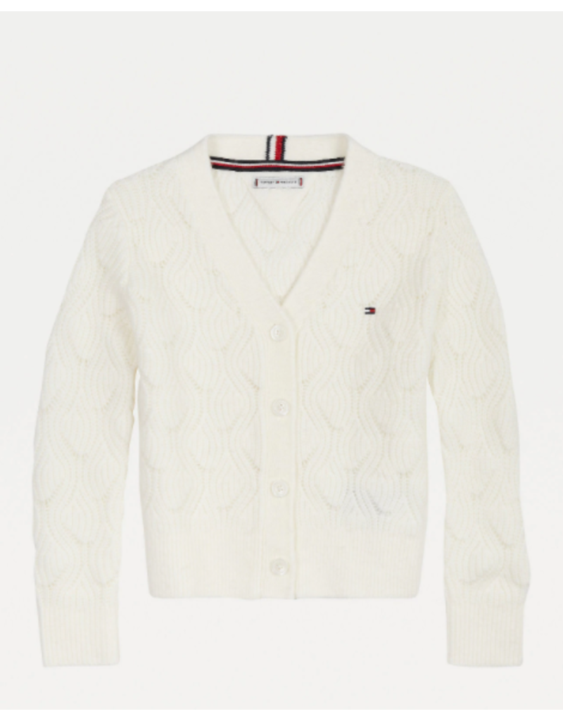 TOMMY HILFIGER Cardigan cable knit ivory