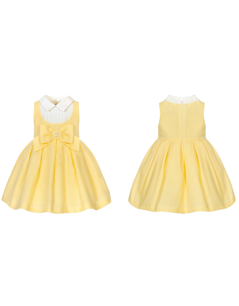 Balloon Chic Jurk geel blouse kraagje