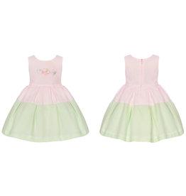 "Balloon Chic Jurk ""Lovely"" roze/groen"