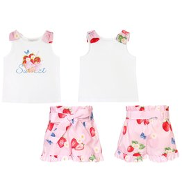 "Balloon Chic Set ""Strawberries"" top+shortje"