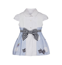 "Lapin House Jurk ""Butterfly"" wit blouse"