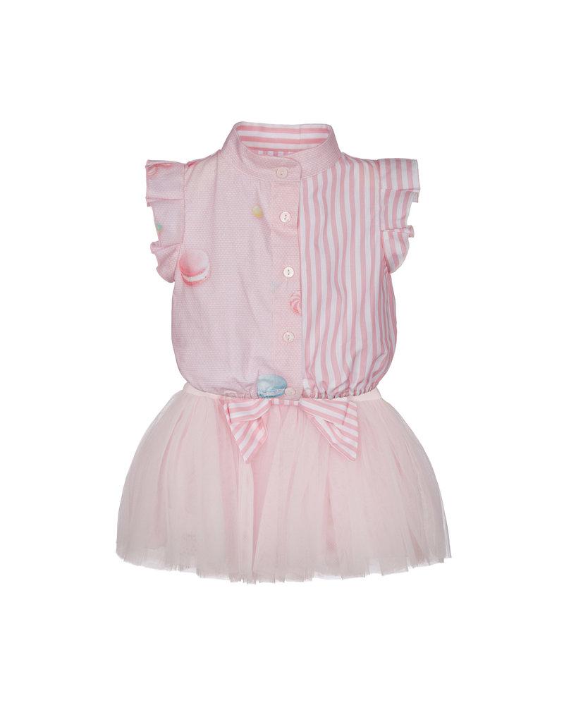 "Lapin House Jurk ""Macaron"" roze tule"