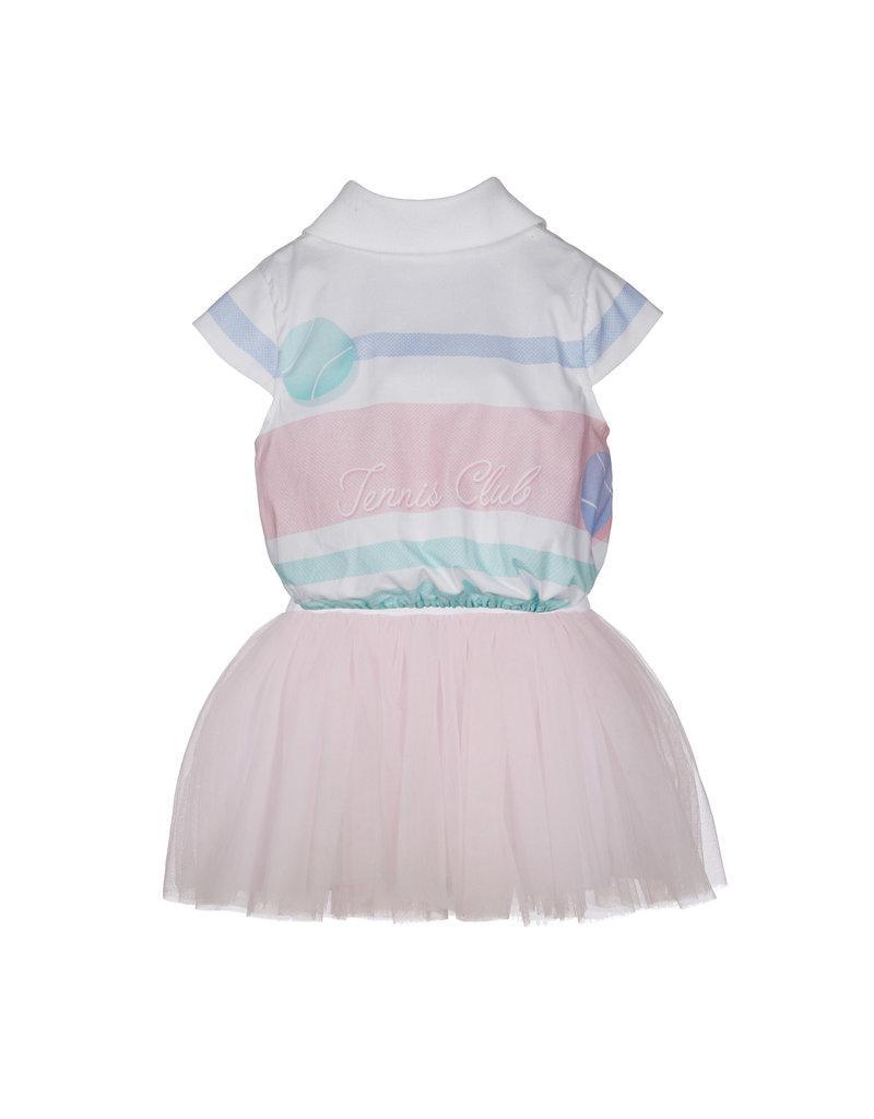"Lapin House Jurk ""Tennis"" roze tule"